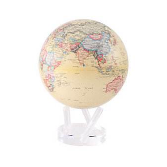 Mova Antique Beige Globe, 8.5""