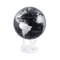 Mova_Silver_and_Black_Metallic_Globe,_8.5""