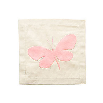 Nora Fleming Butterfly Panel Pillow Cover