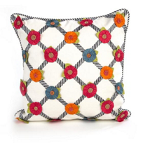 MacKenzie-Childs_Tic-Tac-Posie_Square_Pillow