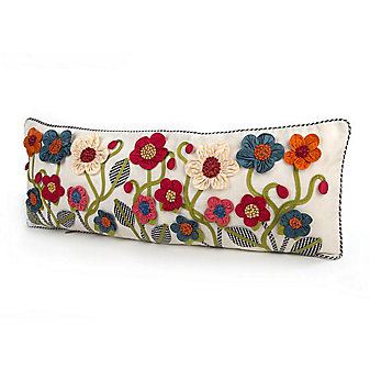 MacKenzie-Childs Tic-Tac-Posie Lumbar Pillow - Long