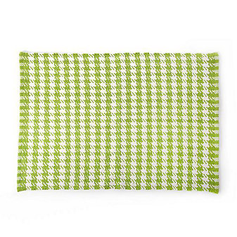 MacKenzie-Childs Chartreuse Houndstooth Scatter Rug 2' x 3'