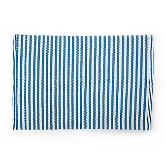 MacKenzie-Childs Oxford Blue Stripe Scatter Rug - 2' x 3'