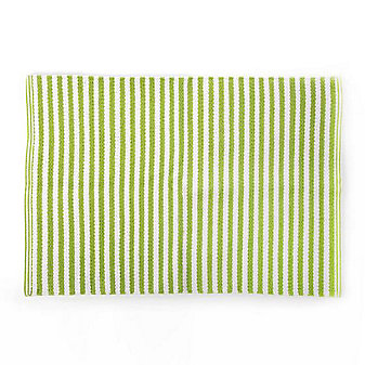 MacKenzie-Childs Chartreuse Stripe Scatter Rug - 2' x 3'