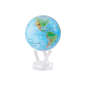 "mova blue green 4.5"" globe with base"