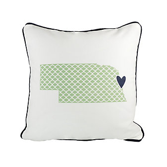 coast and cotton nebraska pillow