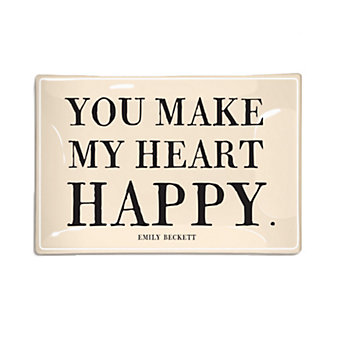 Ben's Garden You Make my Heart Happy 4X6 Tray