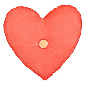 Meri Meri Velvet Heart Cushion - Coral Pink