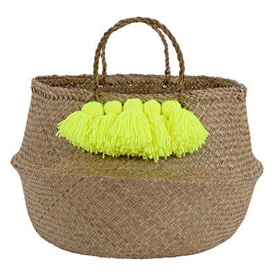 Meri Meri Neon Yellow Tassle Basket