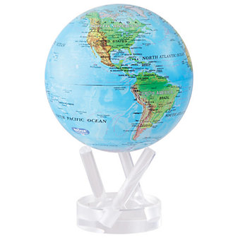 "mova blue with relief map 6"" globe"