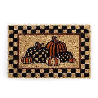 mackenzie-childs pumpkin patch entrance mat