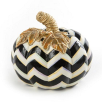 mackenzie-childs_black_&_white_chevron_pumpkin,_small