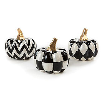 mackenzie-childs capiz pumpkins, set of 3