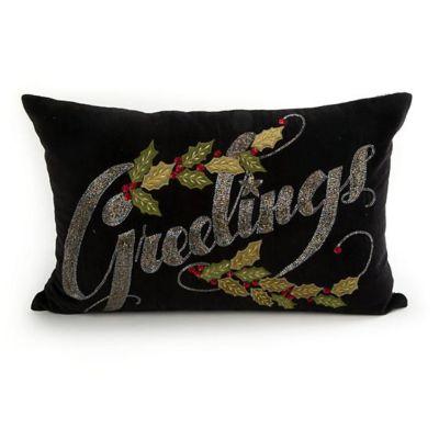 mackenzie-childs greetings pillow