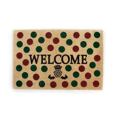 mackenzie-childs holiday dot welcome mat