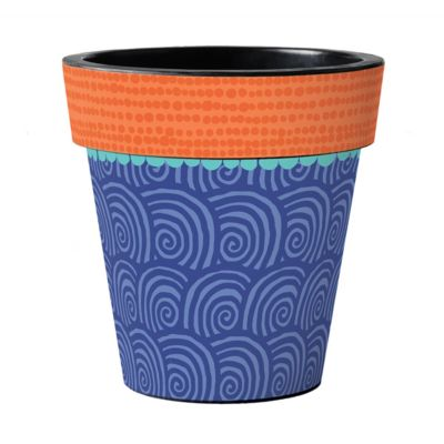"studio m blue swell 18"" art planter"