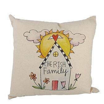 sticks happy home pillow