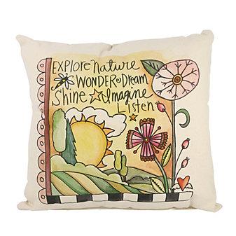 sticks sunshine day pillow
