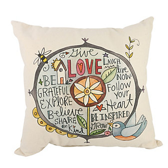 sticks words of wisdom pillow