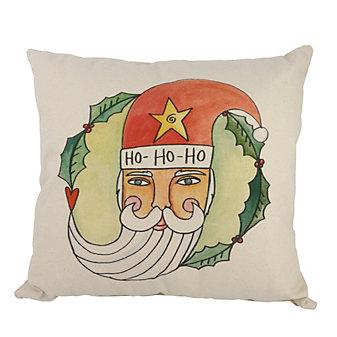sticks jolly st nick pillow
