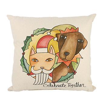 sticks santa's little helpers pillow