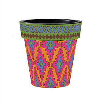 "studio m dhurrie brights 15"" art planter"