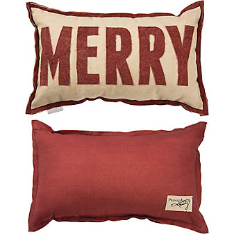 primitives by kathy merry red pillow