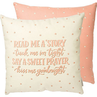 primitives by kathy read me a story pillow-pink