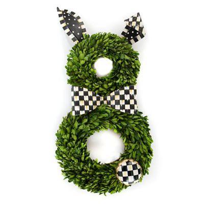 Mackenzie-Childs Boxwood Bunny Wreath