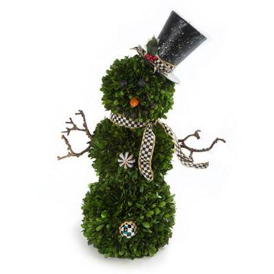mackenzie-childs snowman topiary