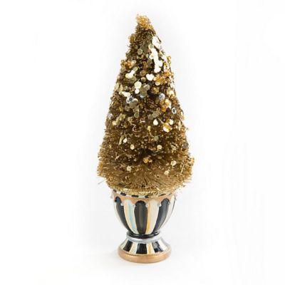 mackenzie-childs precious metals bottle brush tree, mini