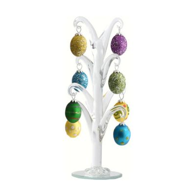 Crystal Easter Egg Tree with Egg Ornaments