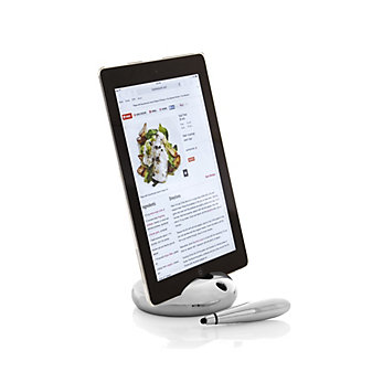 Nambe Pebble Tablet Stand with Stylus