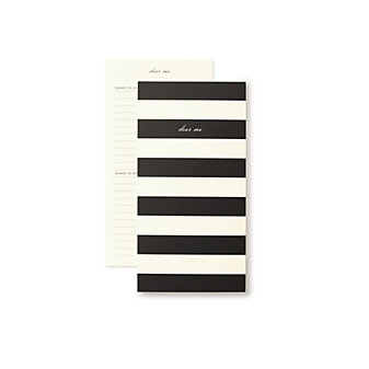 Kate Spade Dear Me Black Stripe Notepad
