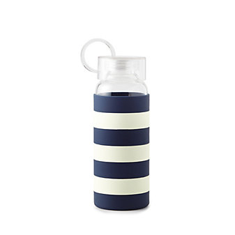 Kate Spade Navy Rugby Stripe Water Bottle