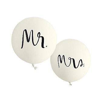 Kate Spade Bridal Balloons - Mr. and Mrs.