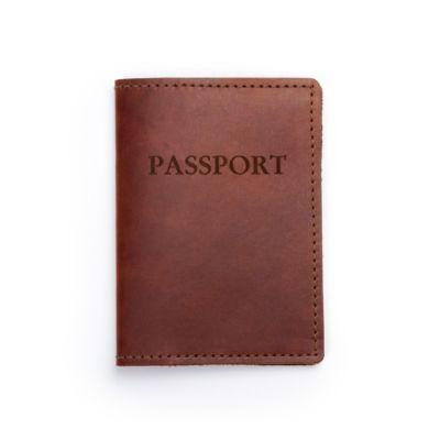 RUSTICO PASSPORT COVER - SADDLE