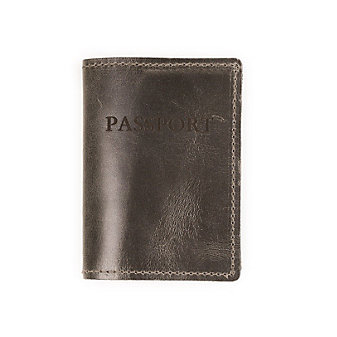 RUSTICO PASSPORT COVER - CHARCOAL