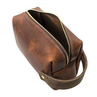 RUSTICO HIGHLINE THRE LEATHER POUCH - SADDLE