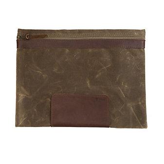rustico rim waxed canvas carryall case - tan