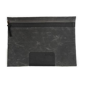 rustico rim waxed canvas carryall case - grey