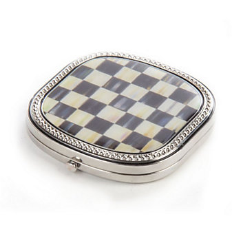 MacKenzie-Childs Courtly Check Compact Mirror