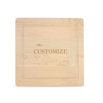 """Maple_Leaf_at_Home_12""""_Square_Custom_Cutting_Board_without_Handles"""