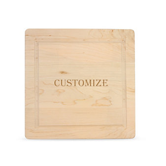 "Maple Leaf at Home 12"" Square Custom Cutting Board without Handles"