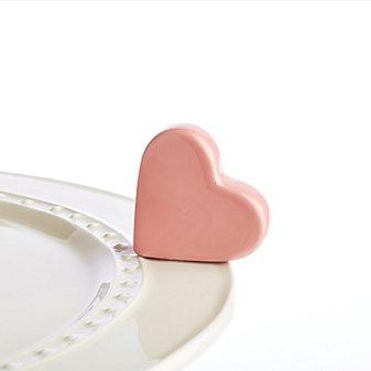 Nora Fleming Pink Heart Mini