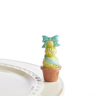 Nora Fleming Topiary Blue Mini