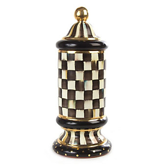 MacKenzie-Childs Courtly Check Column Canister