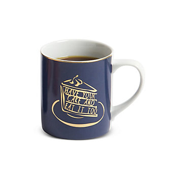 8 Oak Lane Have Your Cake Navy Mug