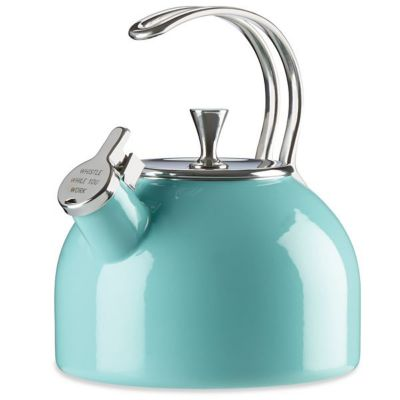 Kate Spade All In Good Taste Turquoise 2.5-Quart Tea Kettle