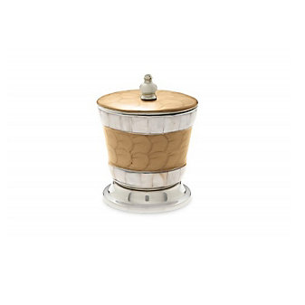 """Julia Knight Toffee Classic Covered Canister, 5.5"""""""